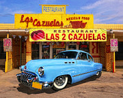 Blue Brick Digital Art Prints - Low Rider at Las Cazuelas Print by Ron Regalado
