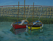 Oars Paintings - Low Tide by Anthony Dunphy