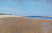 Chatham Painting Originals - Low Tide at Lighthouse Beach by Sue Birkenshaw