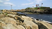 Nubble Lighthouse Posters - Low Tide at Nubble Poster by Robert McCulloch