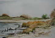 Rumson Prints - Low tide at Sandy Hook Print by Jane Getty