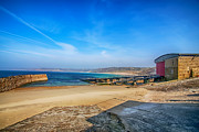 Sennen Cove Prints - Low tide at Sennen Cove 2 Print by Chris Thaxter
