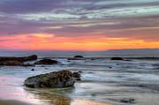 Low Tide In Newport Beach Print by Eddie Yerkish