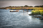 Low Country Prints - Low tide on the Bull River Print by Scott Hansen