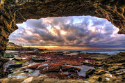 Low Tide Sunset In La Jolla Print by Eddie Yerkish