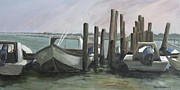 Notecards Painting Prints - Low Tide Print by Susan Richardson