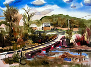 Country Scene Mixed Media - Low Water Bridge III by Kip DeVore