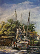 Shrimp Boat Paintings - Lowcountry Veteran by Sharon Sorrels