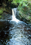 Argyll And Bute Prints - Lower fall Pucks Glen Print by Gary Eason