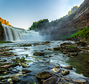 Tim Buisman Art - Lower Falls Genesee River by Tim Buisman
