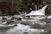 Litchfield Hills Prints - Lower Falls Print by Mike Farslow