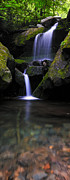 Motor Nature Trail Posters - Lower Grotto Falls - Verticle Poster by Thomas Schoeller