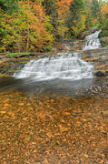Waterfalls Posters - Lower Kent Falls Portrait Poster by Bill  Wakeley