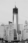 11 Wtc Digital Art Metal Prints - LOWER MANHATTAN in BLACK AND WHITE Metal Print by Rob Hans