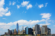 Skylines Metal Prints - Lower Manhattan New York City Metal Print by Diane Diederich