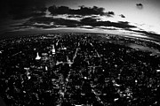 Manhaten Prints - Lower Manhattan New York City Night Sunset Dark  Print by Joe Fox