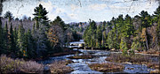 Lower Tahquamenon Falls Michigan Print by Evie Carrier