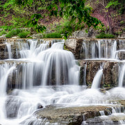 Cascading Water Photos - Lower Taughannock Falls by Bill  Wakeley