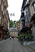 Old Home Place Photos - Lower Town Quebec With Funicular by Christiane Schulze