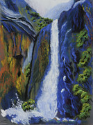 Yosemite Pastels - Lower Yosemite Falls by Brenda Salamone