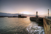 Lowestoft Metal Prints - Lowestoft Harbour at dawn Metal Print by Rob Hawkins