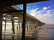 San Clemente Prints - Lowtide at the Pier Print by Traci Lehman
