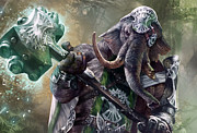 Magic The Gathering Posters - Loxodon Smiter Poster by Ryan Barger