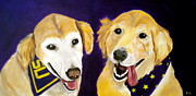 Retrievers Paintings - LSU Fans by Debi Pople