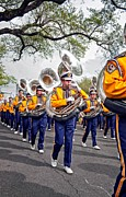 Marching Band Posters - LSU Marching Band 2 Poster by Steve Harrington