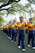 Marching Band Photo Prints - LSU Marching Band 3 Print by Steve Harrington