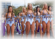 Marching Acrylic Prints - LSU Marching Band 4 Acrylic Print by Steve Harrington