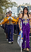 Lsu Prints - LSU Marching Band 5 Print by Steve Harrington