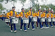 Marching Band Photo Prints - LSU Marching Band Print by Steve Harrington