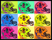 Paul Van Scott Framed Prints - LSU pop Framed Print by Paul Van Scott