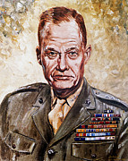 General Lewis Chesty Puller Posters - Lt Gen Lewis Puller Poster by Mountain Dreams