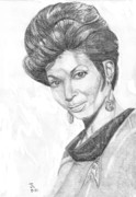 Science Fiction Drawings - Lt. Uhura by Thomas J Herring