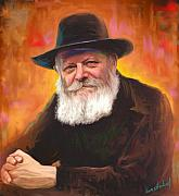 Portrait Paintings - Lubavitcher Rebbe by Sam Shacked