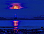 Marty Saccone - Lubec Light Moonrise
