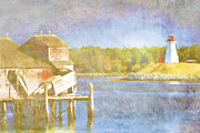 Atlantic Digital Art - Lubec Maine to Campobello Island by Carol Leigh