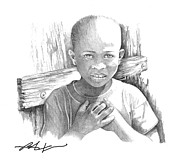 Haiti Drawings - Luc by Bob Salo