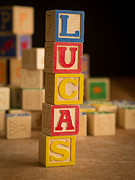 Lucas Framed Prints - LUCAS - Alphabet Blocks Framed Print by Edward Fielding