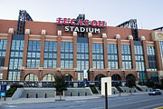 Pro Football Prints - Lucas Oil Stadium Print by James Drake
