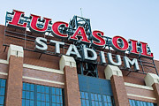 Pro Football Prints - Lucas Oil Stadium Sign Print by James Drake