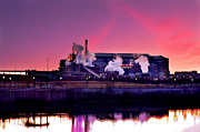 Indianapolis Art - Lucas Oil Stadium Sunrise by David Haskett