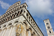 Lucca Metal Prints - Lucca Basilica San Michele in Foro  Metal Print by Kiril Stanchev