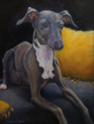 Greyhound Framed Prints - Lucca Framed Print by Desiree  Rose