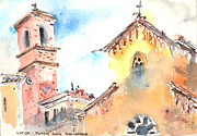 Lucca Framed Prints - Lucca Plaza San Salvatore Framed Print by Fred Truitt