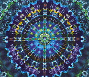 Tie Dye Tapestries - Textiles Metal Prints - Lucid Dream Metal Print by Courtenay Pollock