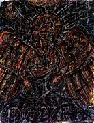 Impressionistic Drawings - Lucifer Defies God by Rachel Scott