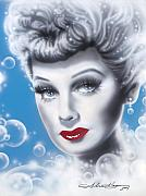 Movie Stars Framed Prints - Lucille Ball Framed Print by Alicia Hayes
